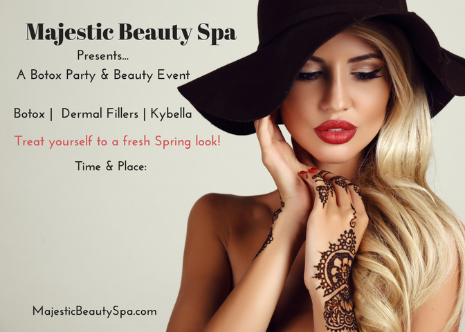 Majestic Beauty Spa - 5 x 7 - Invite 1