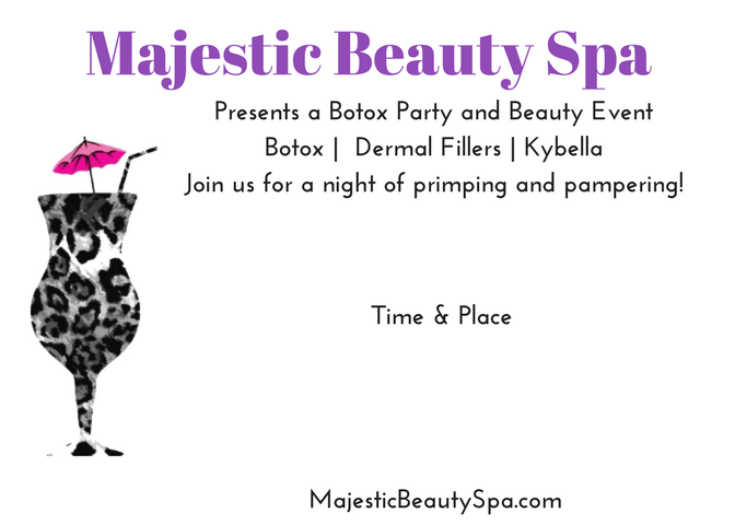 Majestic Beauty Spa - 5 x 7 - Invite 2
