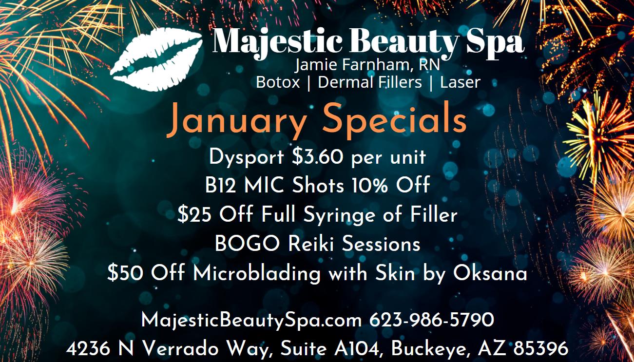 Majestic Beauty Spa January Specials 2021
